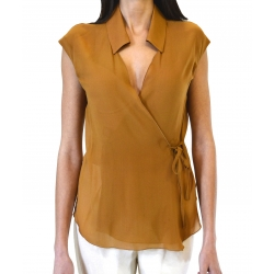 Georgette Short-Sleeved Blouse