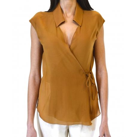 Camicia manica corta georgette