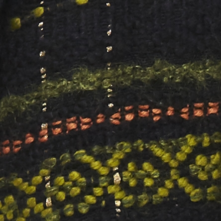 Telaio multicolor nero verde